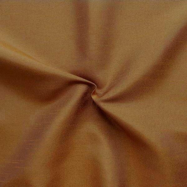 Kleider / Deko Taft Dupionseide Optik Farbe Kupfer-Braun