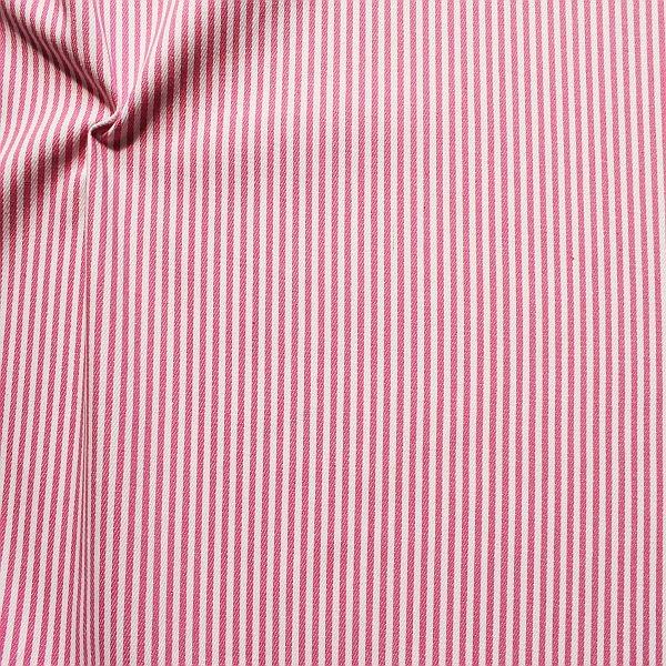 Baumwolle Denim Jeans Stoff Streifen Schmal Rosa-Weiss