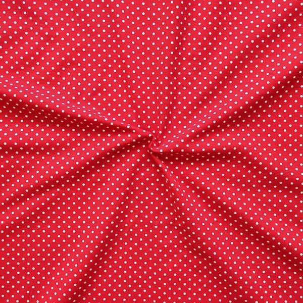 """Baumwoll Stretch Jersey """"Punkte klein"""" Farbe Rot-Weiss"""