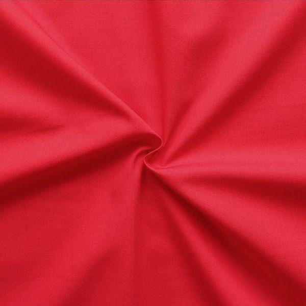 100% Baumwolle Popeline Rot