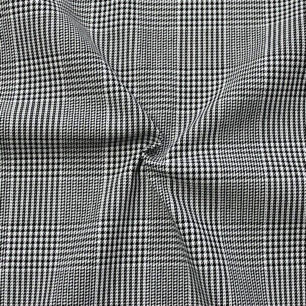"""Stretch Baumwollstoff """"Modern Glencheck"""" Farbe Schwarz-Weiss"""