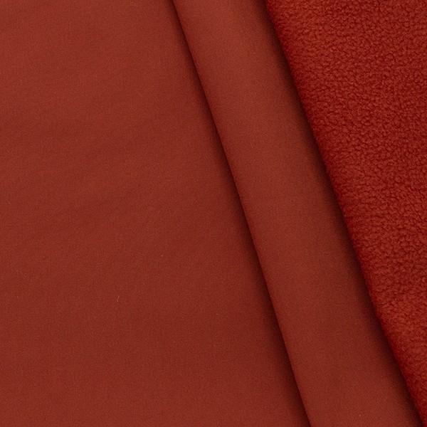 Softshell Fleece Stoff Rost-Rot