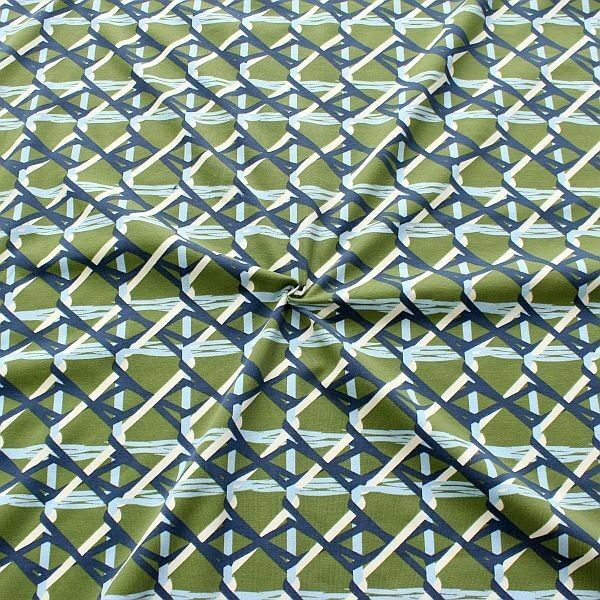 Baumwoll Stretch Jersey Ethno Grafik Grün