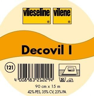 Vlieseline Decovil I lederähnliche aufbügelbare Einlage Farbe Beige