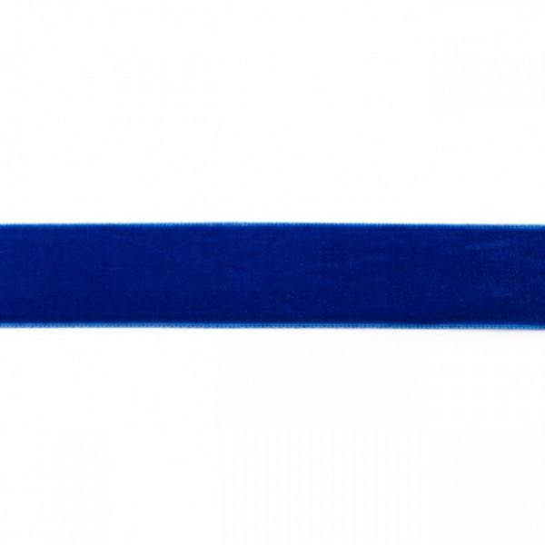 Samtband Breite 25mm Farbe Royal-Blau