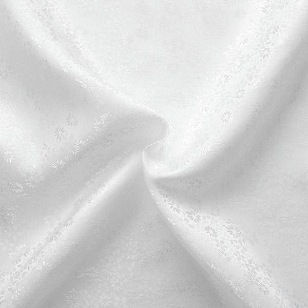 Futterstoff Jacquard Millefleurs Weiss