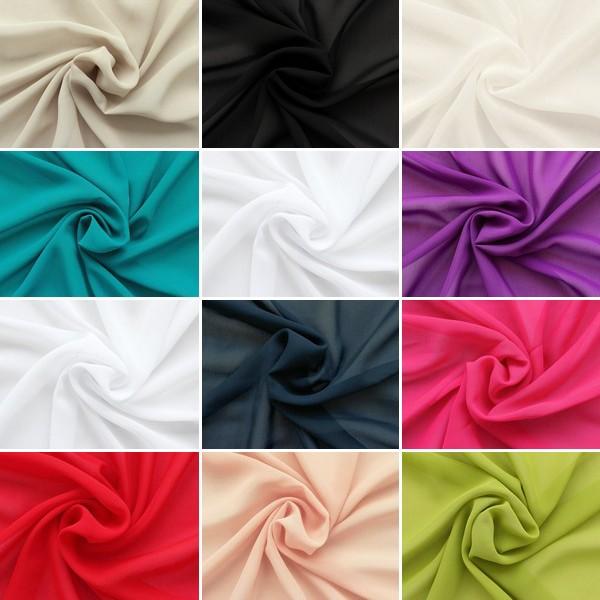 Musterkarte DIN A4 - Polyester Chiffon