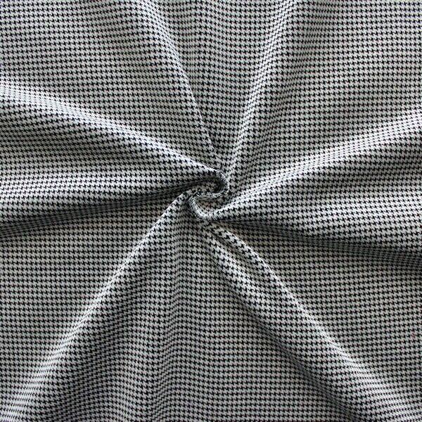 """5,80 Meter Baumwoll Bekleidungs / Deko Samt """"Hahnentritt Klein"""" Farbe Silber-Grau Schwarz"""