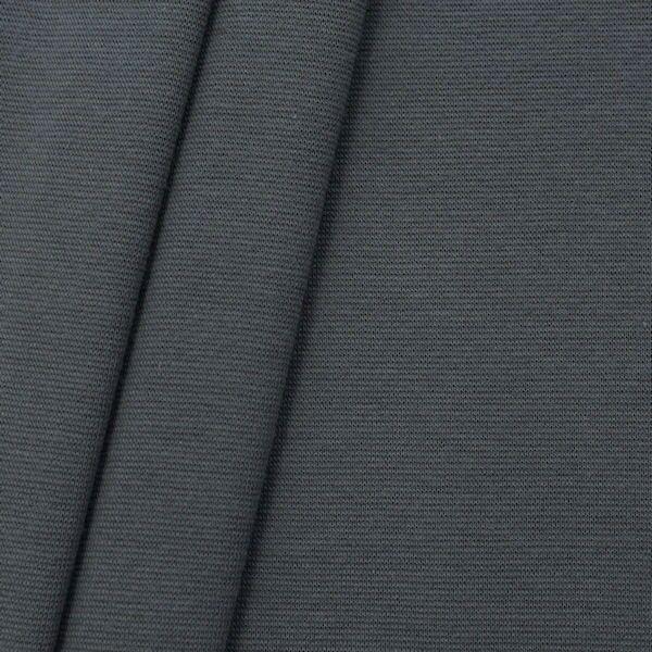 "Baumwoll Bündchenstoff ""glatt 2"" Farbe Dunkel-Grau"