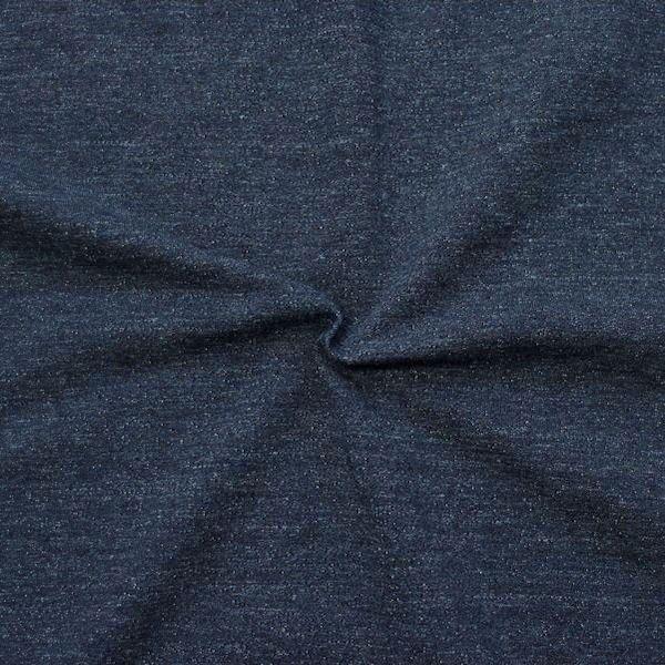 "Sweatshirt Baumwollstoff ""Melange 2"" Farbe Jeans-Blau"