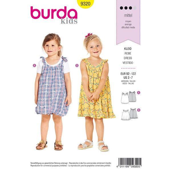 Kleid, Gr. 92 - 122, Schnittmuster Burda 9320