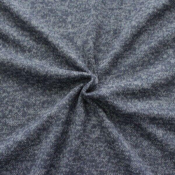 Strick Jersey Melange Optik Blau-Grau