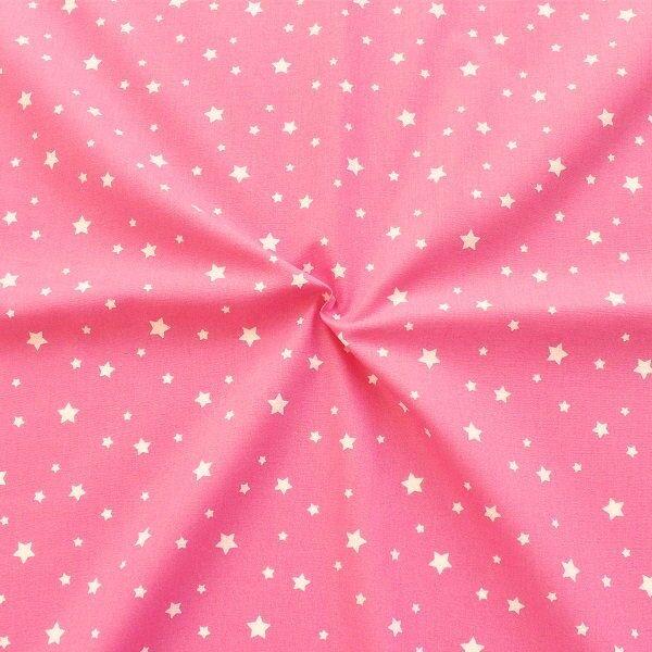 Baumwollstoff Sterne Mix Pink