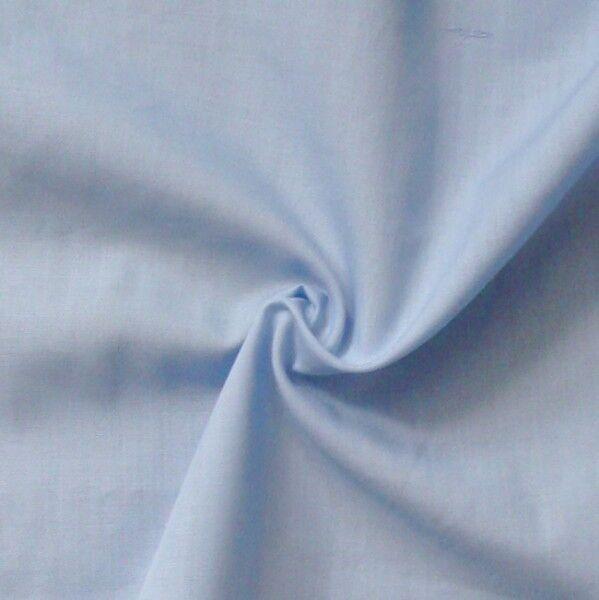 Baumwolle Polyester wie Batist Farbe Hell-Blau
