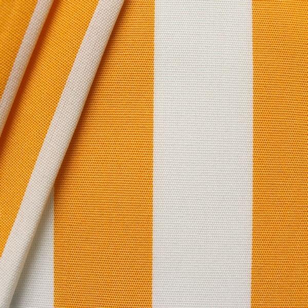 """Markisen Outdoorstoff """"Streifen"""" Breite 160cm Farbe Gelb-Weiss"""