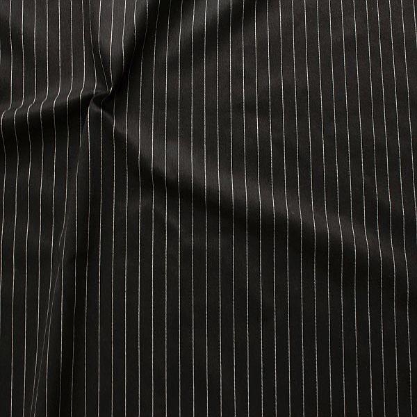 Modestoff Nadelstreifen Schwarz