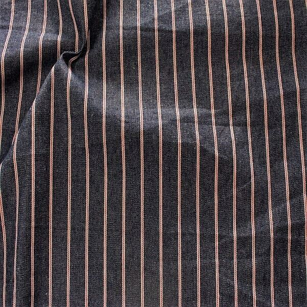 Baumwolle Denim Jeans Stoff Maritime Streifen Dunkel- Blau