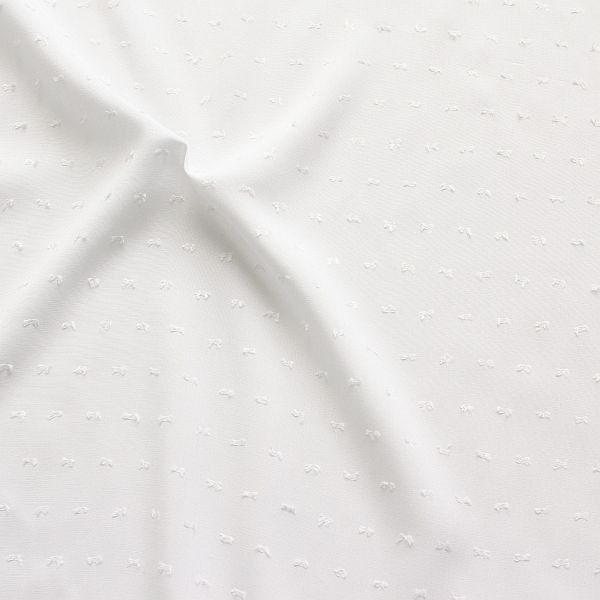 Viskose Modestoff Dobby Weiss