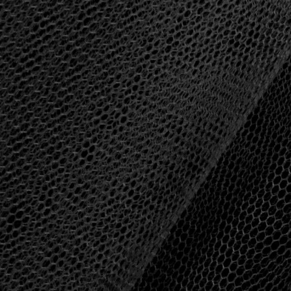 Tüll Stoff Farbe Schwarz