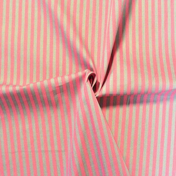 """100% Baumwollstoff """"Streifen Duo"""" Farbe Grau-Rosa"""