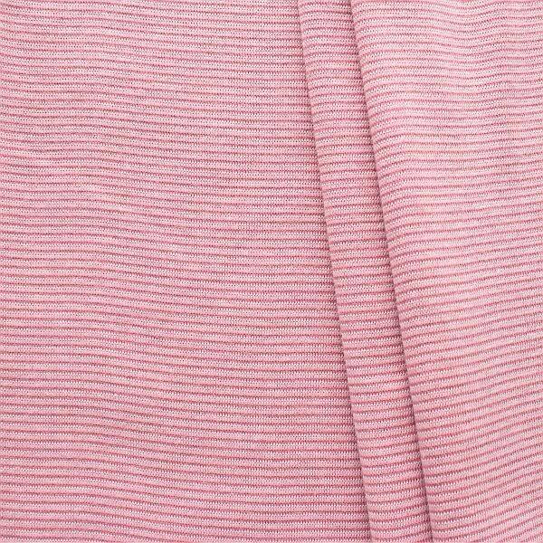 Baumwoll Bündchenstoff Ringel Mini glatt Alt-Rose Rosa