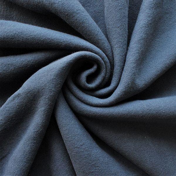 Baumwolle Fleece Season Classic Dunkel-Blau
