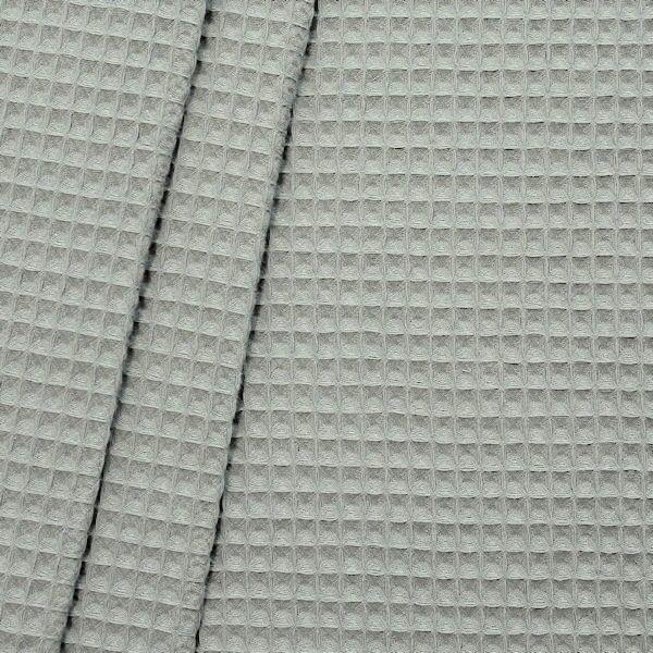 100% Baumwolle Waffel Piqué Farbe Hell-Grau