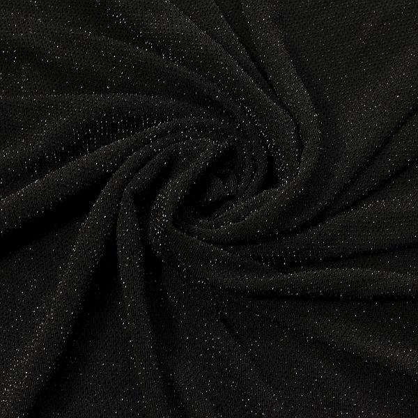 Slinky Jersey Glitzer Schwarz
