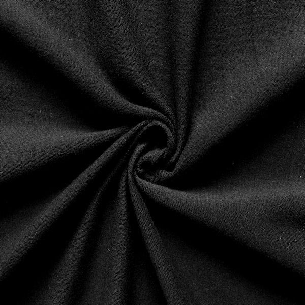 Baumwoll Stretch Jersey Schwarz