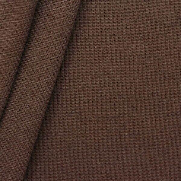 Baumwoll Bündchenstoff glatt Braun