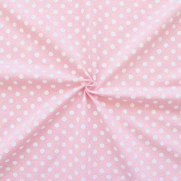 "Baumwoll Stretch Jersey ""Classic Dots"" Farbe Rosa"
