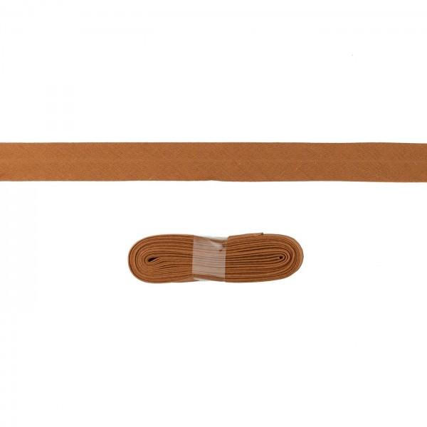 3m Baumwoll Schrägband 20mm Hell-Braun
