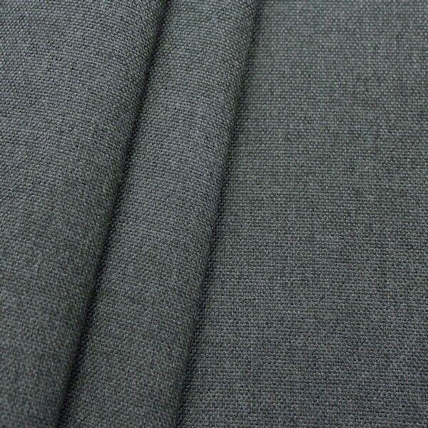 Indoor- Outdoorstoff Panama Bindung Graphit-Grau meliert