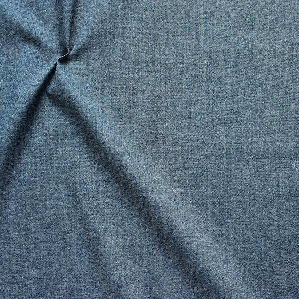 Baumwolle Polyester wie Batist Melange Blau