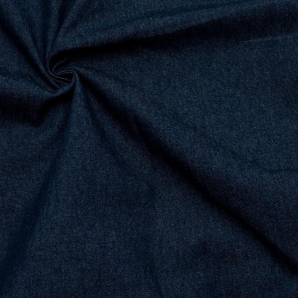 Baumwolle Denim Jeans Stoff leichte Qualität Dunkel-Blau