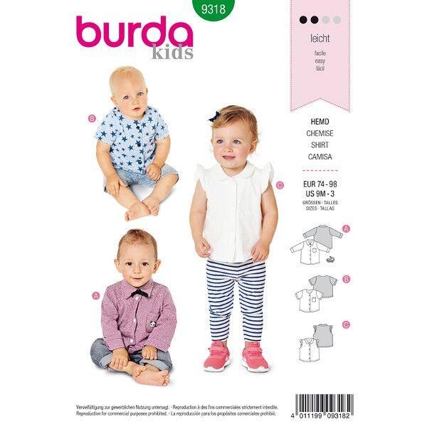 Hemd, Bluse Gr. 74 - 98, Schnittmuster Burda 9318