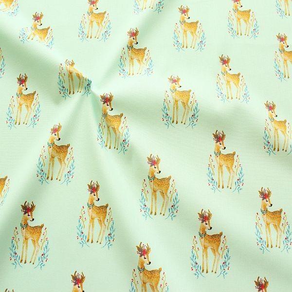 Baumwollstoff Gipsy Deer Mint