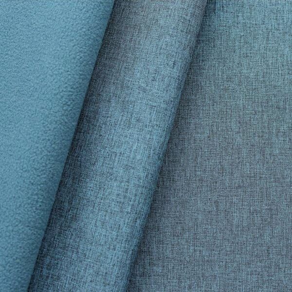 "Softshell Fleece Stoff ""Melange"" Farbe Blau"