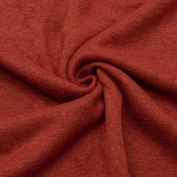 Feinstrick Jersey Classic Knitwear Rost-Rot melange
