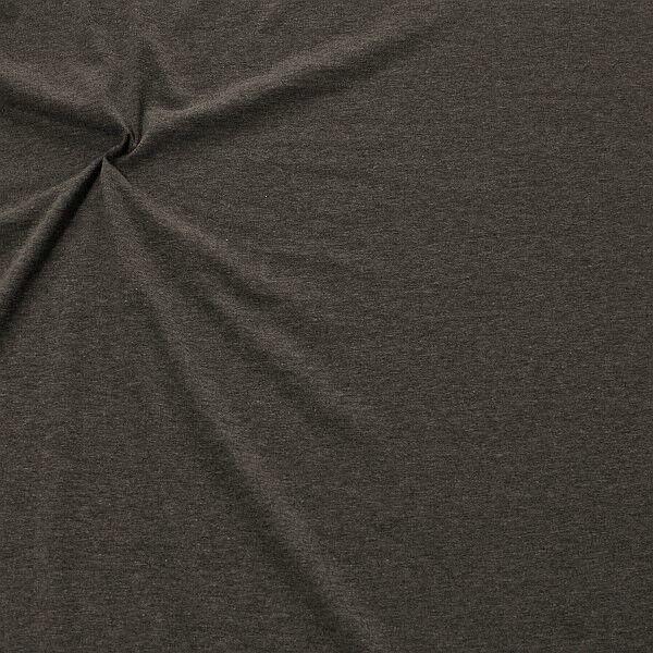 Baumwoll Stretch Jersey Fashion Basic Anthrazit meliert
