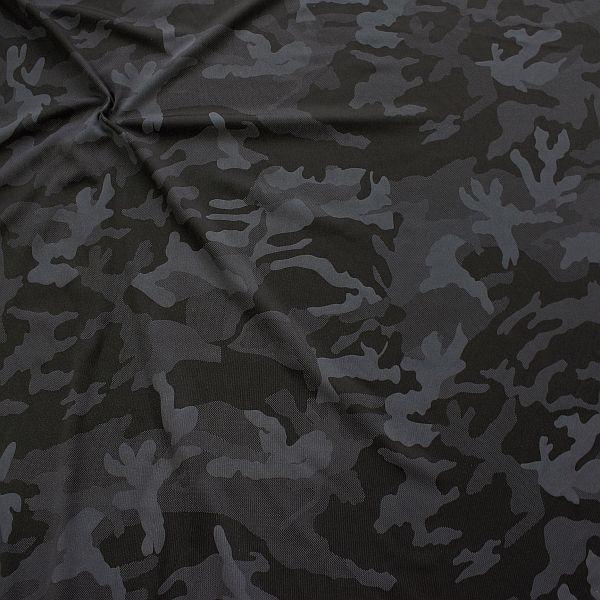 Bi-Stretch Sport Jersey Camouflage Anthrazit-Schwarz