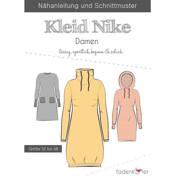 """Fadenkäfer Schnitt """"Kleid Nieke"""" Damen Größe 32 - 58"""