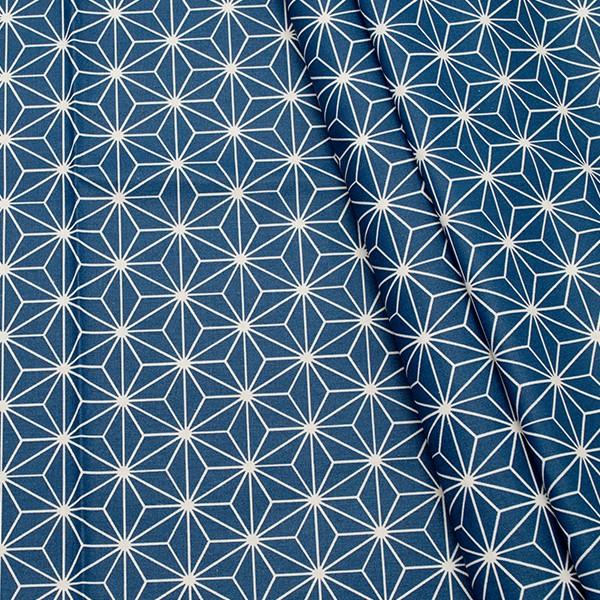 Baumwolle beschichtet Skandinavischer Stern Blau