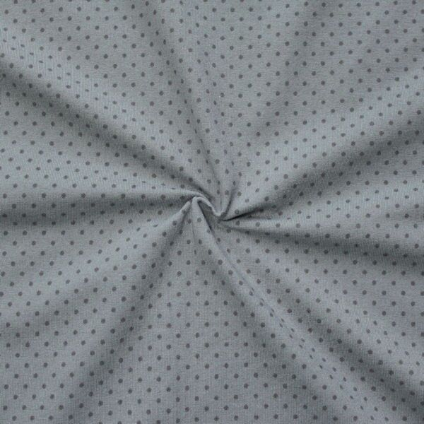 Baumwoll Stretch Jersey Punkte klein Grau Dunkel-Grau