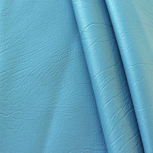 Polster Kunstleder Marmor-Optik Brilliant-Blau