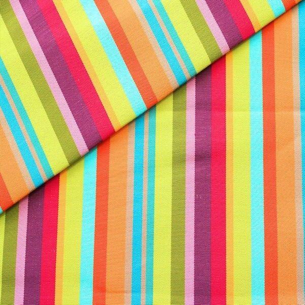 """Liegestuhl / Outdoorstoff Breite 45cm """"Streifen Mix 4"""" Farbe Multicolor"""
