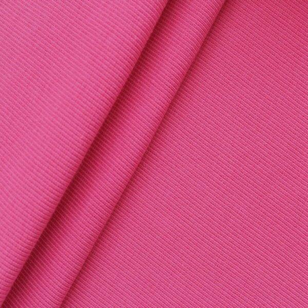 Baumwoll Bündchenstoff Farbe Pink