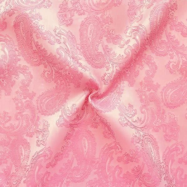 """Futterstoff Jacquard """"Paisley 2"""" Farbe Rosa changierend"""