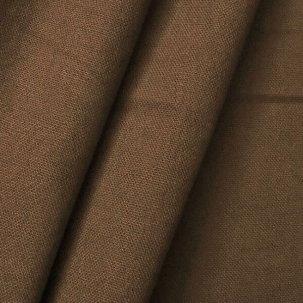 100% Baumwolle Canvas Farbe Braun