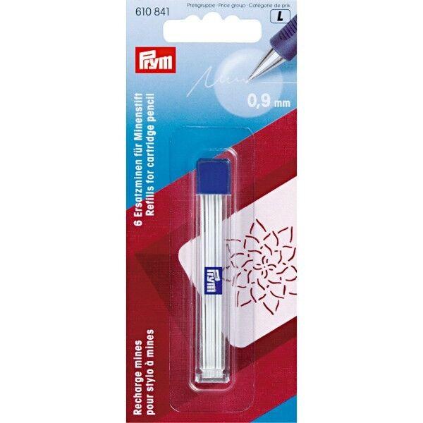 Prym Ersatzminen für Minenstift, extra fein Ø 0,9 mm weiß